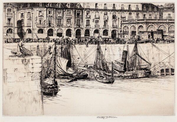 ANDERSON Stanley C.B.E. R.A. R.E. (1884-1966) - 'Les Arcades, Dieppe'.