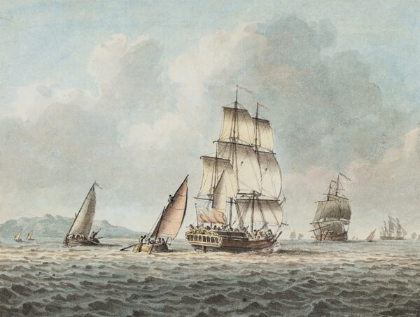 CLEVELEY Robert (1747-1809) - Shipping, large and small, off shore.
