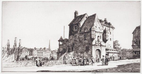 ANDERSON Stanley C.B.E. R.A. R.E. (1884-1966) - 'La Lieutenance, Honfleur.