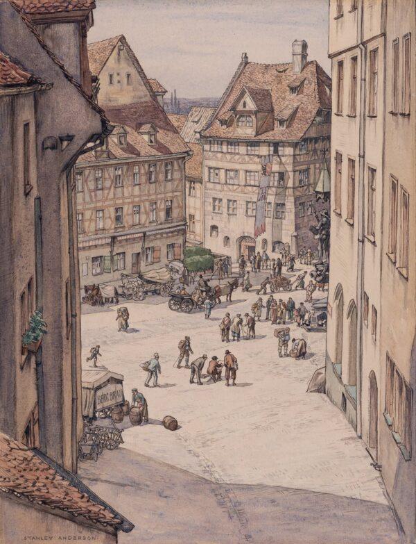 ANDERSON Stanley C.B.E. R.A. R.E. (1884-1966) - Durer's House, Nuremberg.