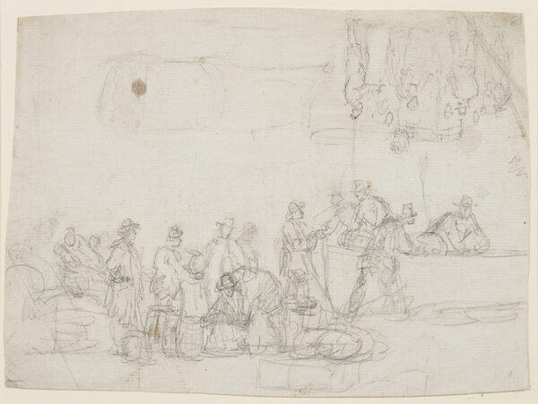 ANDERSON William (1757-1837) - Composition study, possibly for Billingsgate.