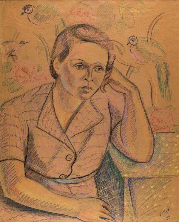ANGUS Peggy (1904-1993) - Portrait of a woman.