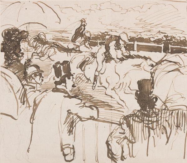 ANQUETIN Louis (1861-1932) - 'Aux Courses'.