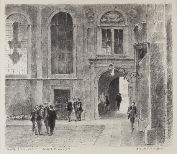 ARDIZZONE Edward C.B.E. R.A. (1900-1979) - 'Trinity College, Oxford: Chapel Quadrangle' (NAP.