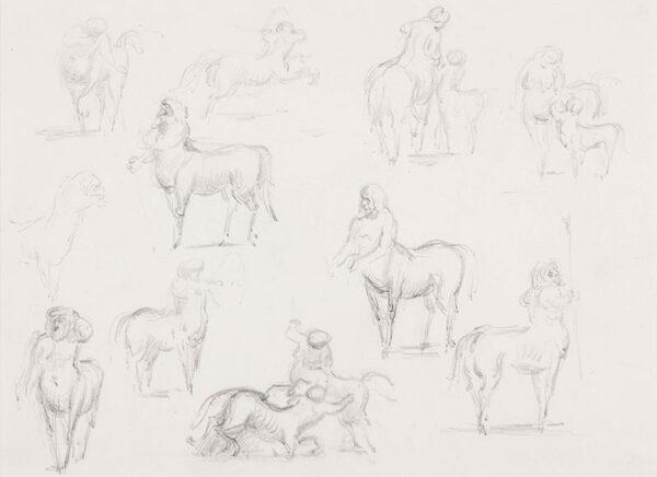 ARDIZZONE Edward C.B.E. R.A. (1900-1979) - Study of Centaurs.