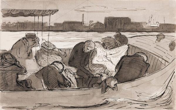 ARDIZZONE Edward C.B.E. R.A. (1900-1979) - 'Pleasure cruise on the Thames'.