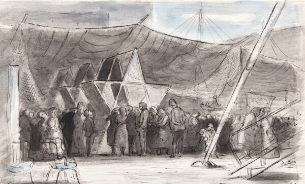 ARDIZZONE Edward C.B.E. R.A. (1900-1979) - Festival of Britain: 'The Water Front at the South Bank'.