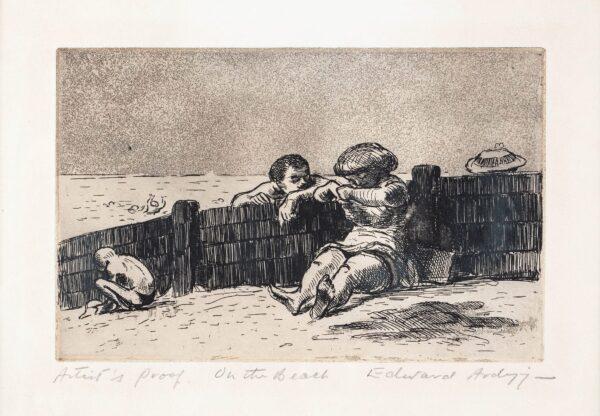 ARDIZZONE Edward C.B.E. R.A. (1900-1979) - 'On the Beach, (Sheerness)' (NAP.