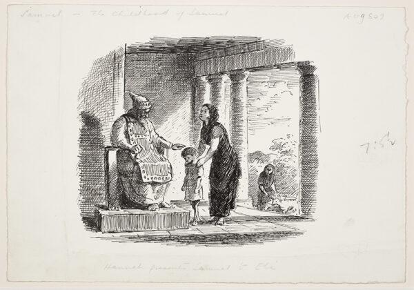 ARDIZZONE Edward C.B.E. R.A. (1900-1979) - 'The Childhood of Samuel – Hannah presents Samuel to Eli'.
