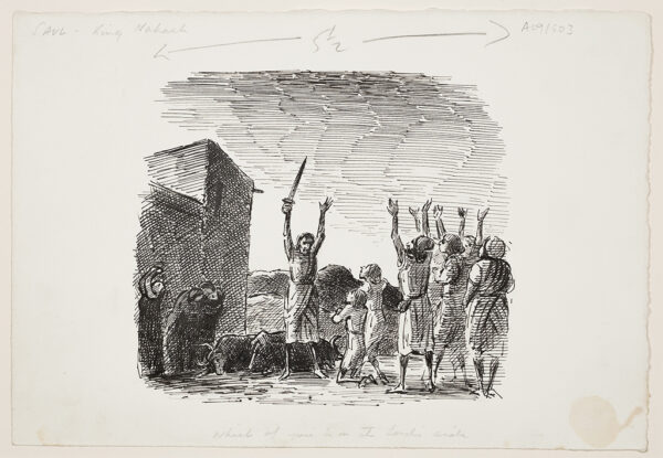 ARDIZZONE Edward C.B.E. R.A. (1900-1979) - 'Saul – King Nahash – Which of you is on the Lord's side'.