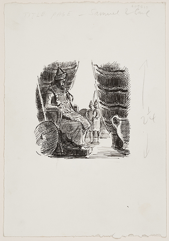 ARDIZZONE Edward C.B.E. R.A. (1900-1979) - 'Title Page – Samuel and Saul'.