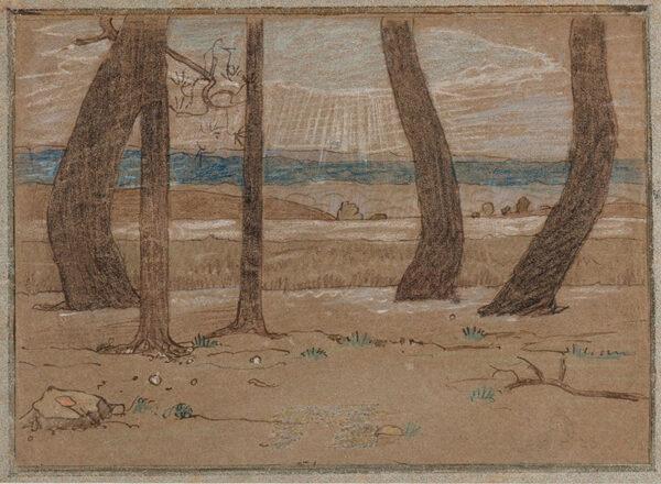 ARMFIELD Maxwell Ashby (1881-1972) - Landscape study.