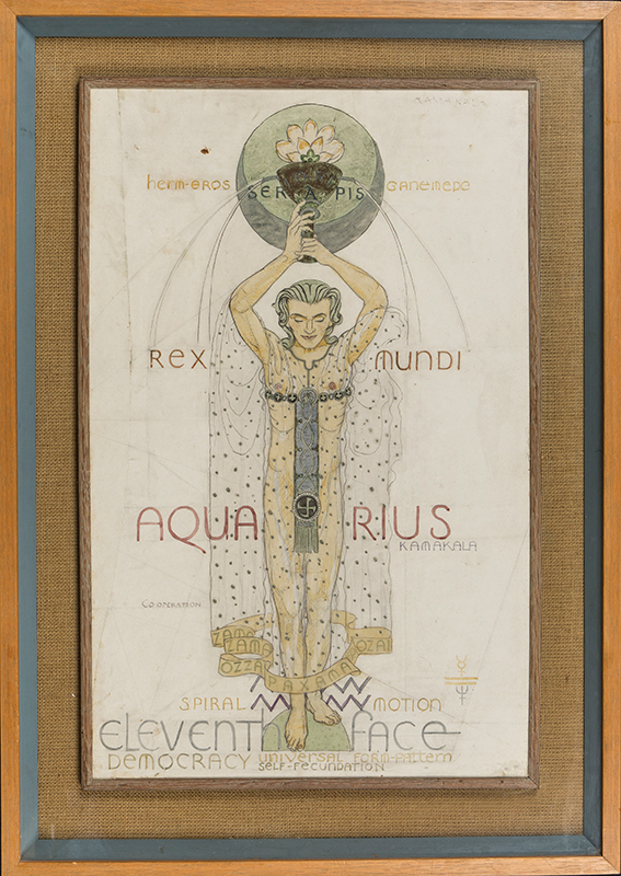 ARMFIELD Maxwell Ashby (1881-1972) - 'Aquarius': Pencil, pen, ink and watercolour.