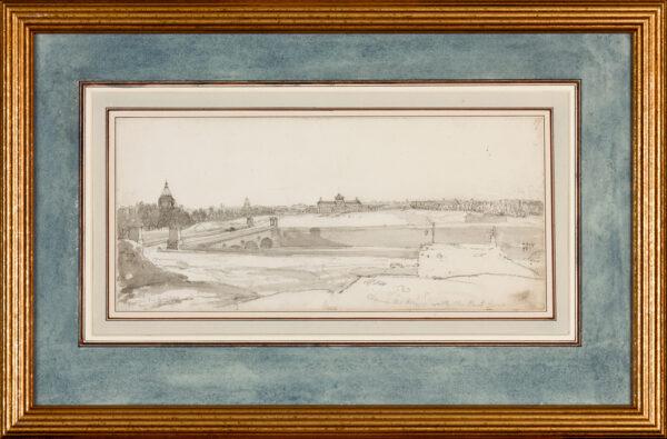 ARNALD George A.R.A. (1763-1841) - 'Hospital Les Invalides / Champs de Mars with the Pont d'Lena'.