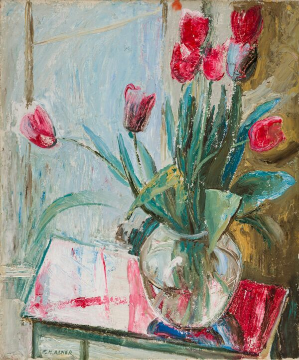 ASHER Florence May (1888-1977) - 'Tulips'.
