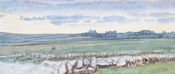 ASTON Charles Reginald R.I. (1832-1908) - 'St Sennen, Winter 1880', Cornwall.