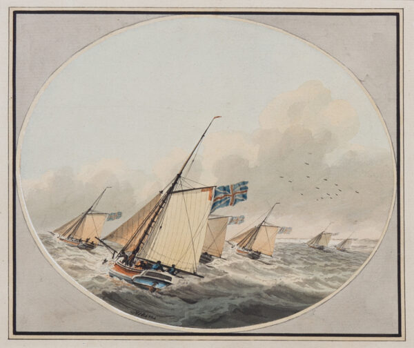 ATKINS Samuel (1760-1810) - Cutters in a stiff breeze.