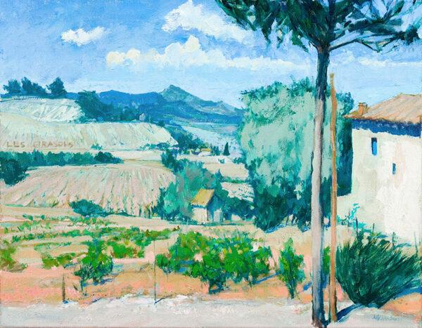 ATKINSON Anthony (1929-2014) - 'Vines at Rasteam, Provence'.