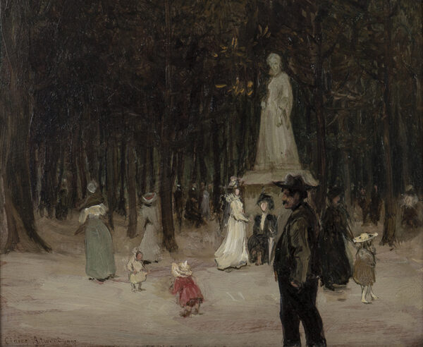 ATWOOD Cla(i)re N.E.A.C. (1866-1962) - Paris; the Luxembourg Gardens at dusk.