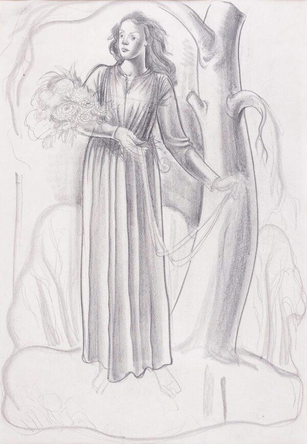 AUSTEN John (1886-1948) - Study for an Art Deco illustration.