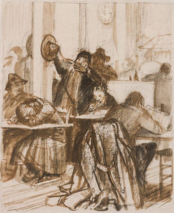 AUSTIN Robert Sargent R.A. R.E. R.W.S. (1895-1973) - Italian Café.
