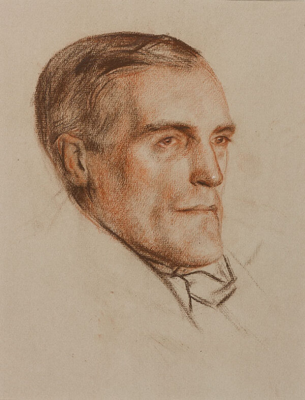 AUSTIN Robert Sargent R.A. R.E. R.W.S. (1895-1973) - Head of an unknown man.