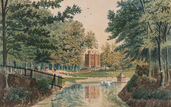 AUSTIN William Frederick (1833-1899) - The Red Mount Chapel in The Walks, Kings Lynn.