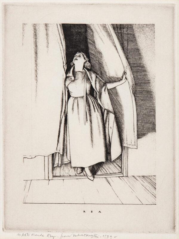 AUSTIN Robert Sargent R.A. R.E. R.W.S. (1895-1973) - 'The Curtain'.