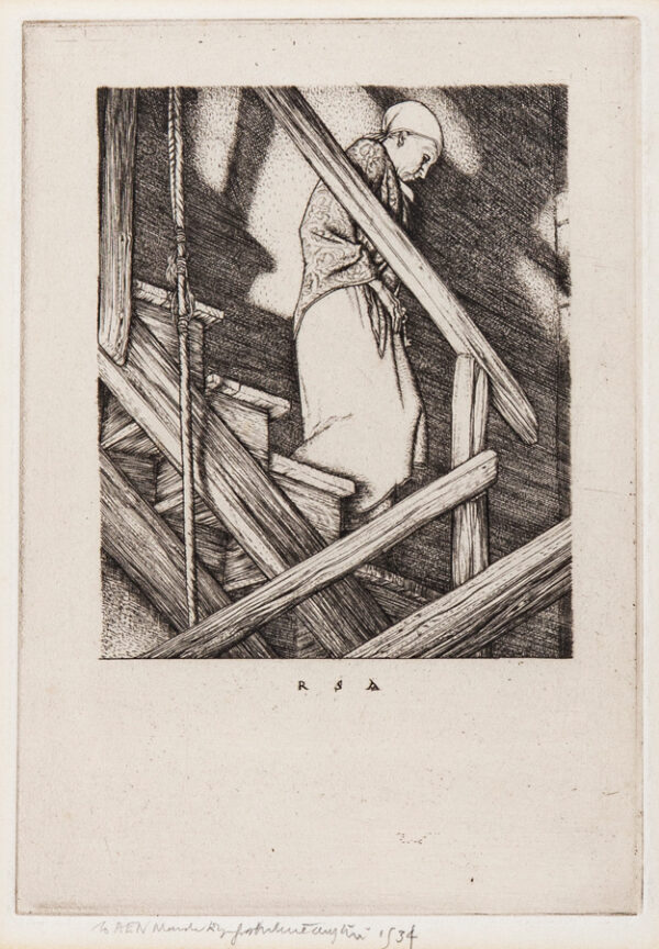 AUSTIN Robert Sargent R.A. R.E. R.W.S. (1895-1973) - 'The Bellringer's Wife'.