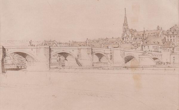 AUSTIN Robert Sargent R.A. R.E. R.W.S. (1895-1973) - A bridge on the Loire.