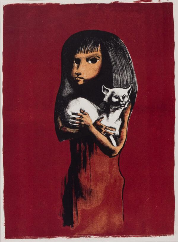 AYRTON Michael (1921-1975) - Girl and Cat.
