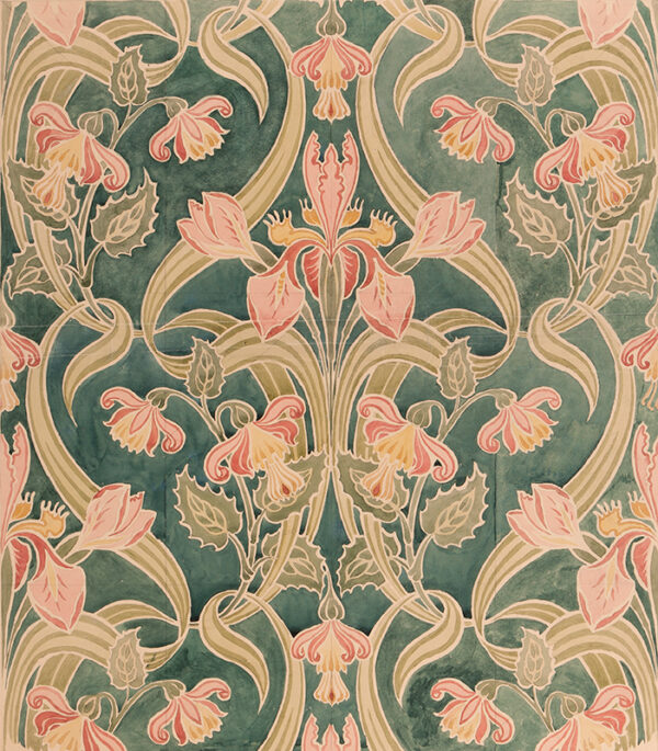 BIANCHINI-FERIER (Firm of) Founded 1888. - An art nouveau design for fabric and/or wallpaper.
