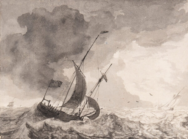 BACKHUYSEN Ludolf, the Elder (1630-1708) - A Dutch hoeker.