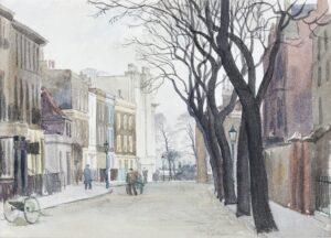 BADMIN Stanley Roy R.E. R.W.S. (1906-1989) - 'Cheyne Row'.