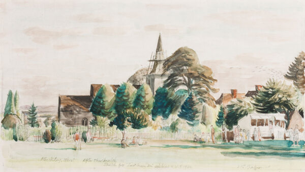 BADMIN Stanley Roy R.E. R.W.S. (1906-1989) - 'Pluckley, Kent: After the Match'.