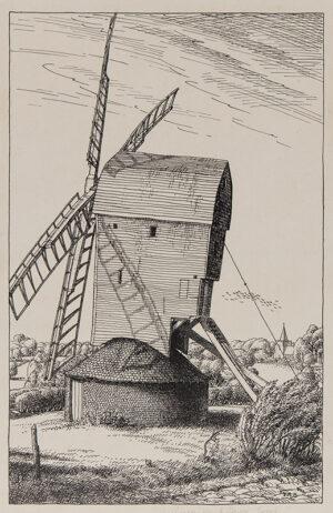 BADMIN Stanley Roy R.E. R.W.S. (1906-1989) - Mill near High (?Lane), Essex'.