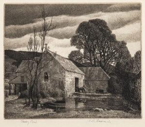 BADMIN Stanley Roy R.E. R.W.S. (1906-1989) - 'Priory Pond'.