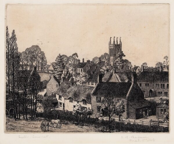 BADMIN Stanley Roy R.E. R.W.S. (1906-1989) - 'Mells, Somerset'.