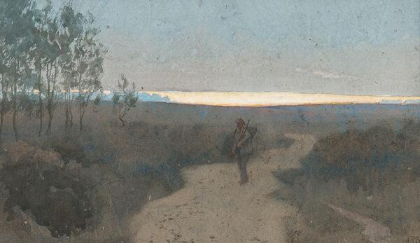 BAKER Alfred Rawlings (b.1865) - Returning at Dusk.