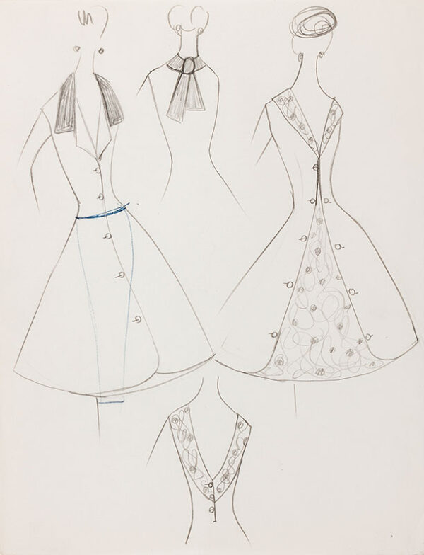BALMAIN Pierre (Atelier of) - Dress Design.