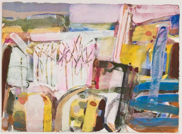 BALMER Derek P.P.R.W.A. (b.1934) - 'Mallorcan Winter II' Watercolour and gouache.