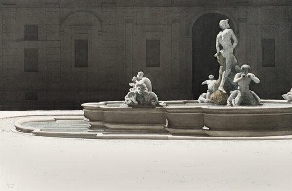 BANKS Robert R.I.B.A. (1911-2000) - Fontana del Moro, piazza Navona, Rome.