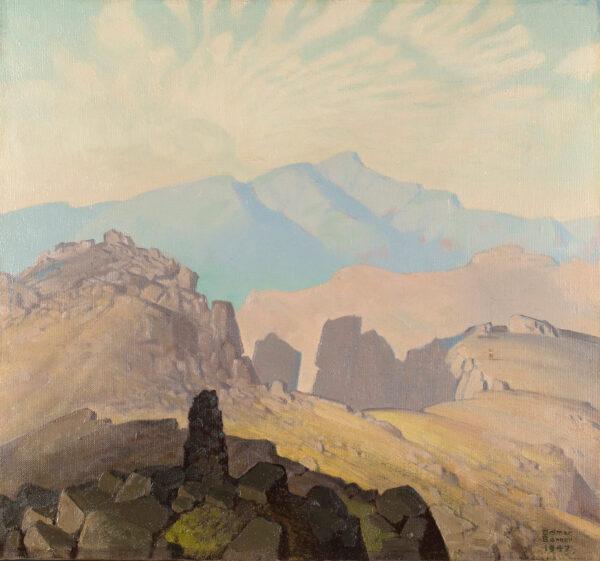 BANNER Delmar Harmood (1896-1983) - 'Blencathra from Scafell'.