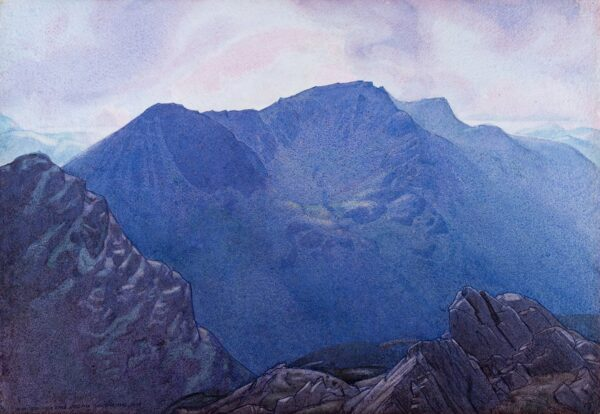 BANNER Delmar Harmood (1896-1983) - 'High Crag, High Stile, Red Pike from Dale Head', above Buttermere.