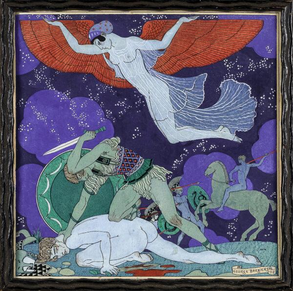 BARBIER George (1882-1932) - Trojan Tragedy.