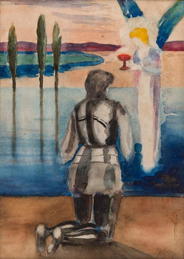 BARING Maurice O.B.E. (1874-1945) - 'The Grail – Sir Gallahad'.
