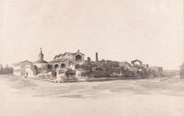 BARNARD Rev. William Henry (1769-1818) - 'Diocletians Baths', Rome.