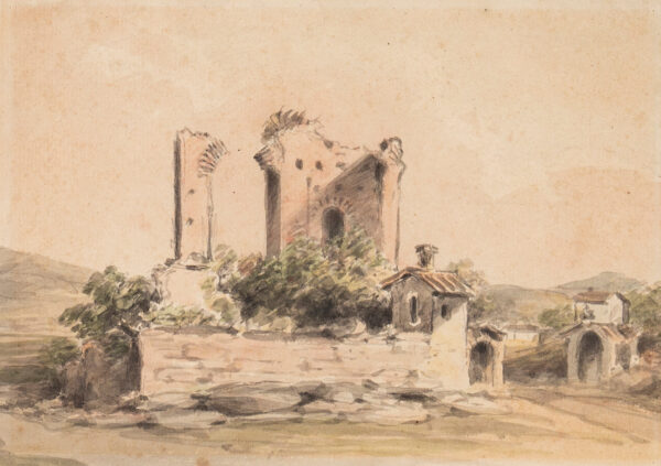 BARNARD Rev. William Henry (1767-1818) - 'The Arch of Marius near Rome'.