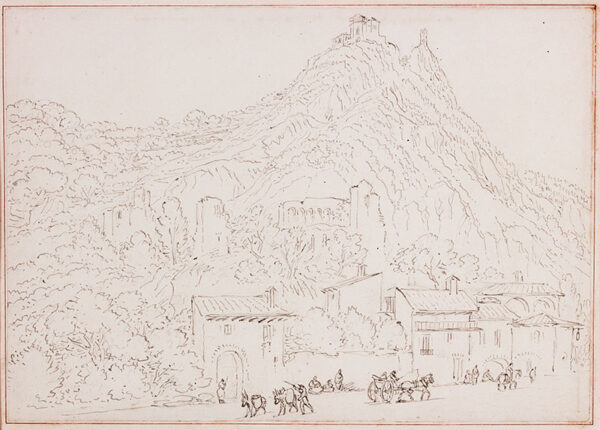 BARNARD Rev. William Henry (1769-1818) - 'Saint Ambroise, with the Convent of St Michel upon the hill' (sic).