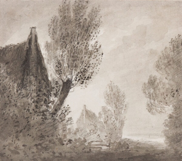 BARNARD Rev. William Henry (1769-1818) - Poplars and Cottages; a Malchairian study.